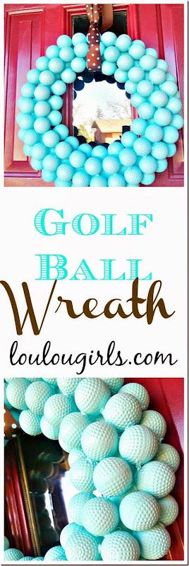 golf ball wreath4