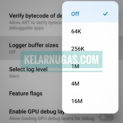 Xiaomi logger buffer size