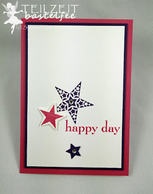 Stampin' Up! - Freshly Made Sketches #206, Simply Stars, Sterne, Happy Day, Birthday, Geburtstag, CaS