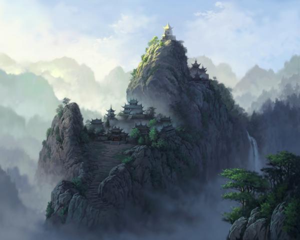 High Mountain Village, Magical Landscapes 2