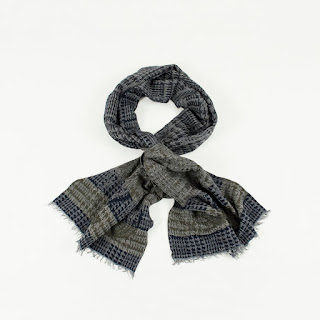 Saks Fifth Avenue Navy/Military Wool Scarf