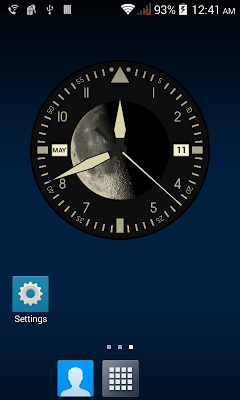 Lunar Clock Wallpaper Demo - screenshot