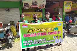 Mengenalkan Figur Gus Ipul - Mas Adi, Relawan BM 99 Bagikan Tiga Ribu Masker & Handsanitizer