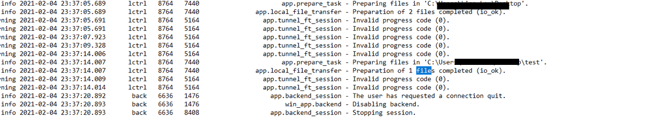 anydesk log analysis