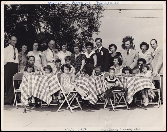 Norris Niehaus and Betty Schmaltz Wedding Reception, 22 July 1950
