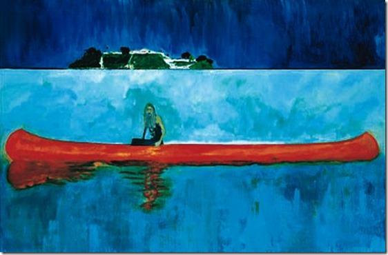 Resultado de imagen para Peter Doig Artículo original: http://enkaustikos.blogspot.mx/2015/04/top-20-pintores-contemporaneos.html © ENKAUSTIKOS