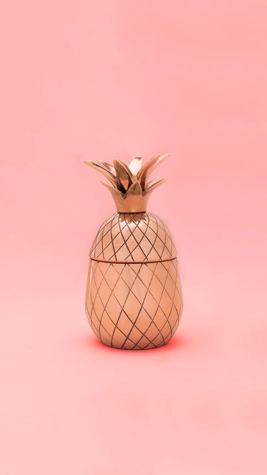 Cute Rose Gold Pineapple Wallpaper Adsleaf Com