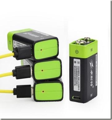 Batterie al litio da 9v e stilo da 1 5 v con ricarica for Porta batteria 9v