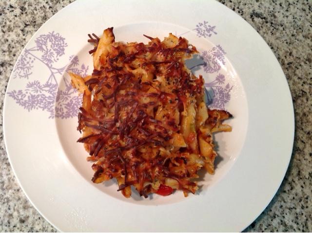 Mi cocina tradicional macarrones al horno con carne y pimiento paso a paso - Macarrones con verduras al horno ...