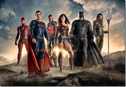 Cartel publicitario de la película Liga de la Justicia