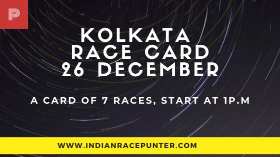 Kolkata Race Card 26 December