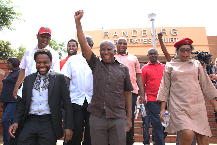 The case against EFF leader Julius Malema and former party spokesperson Mbuyiseni Ndlozi is linked to the alleged assault of a police officer at the funeral of Winnie Madikizela-Mandela. File photo.
