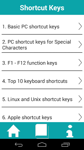 ShortCut Keys For PC