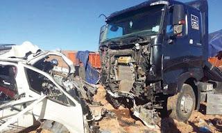 Guelma: La collision entre un semi-remorque et un véhicule léger fait un mort