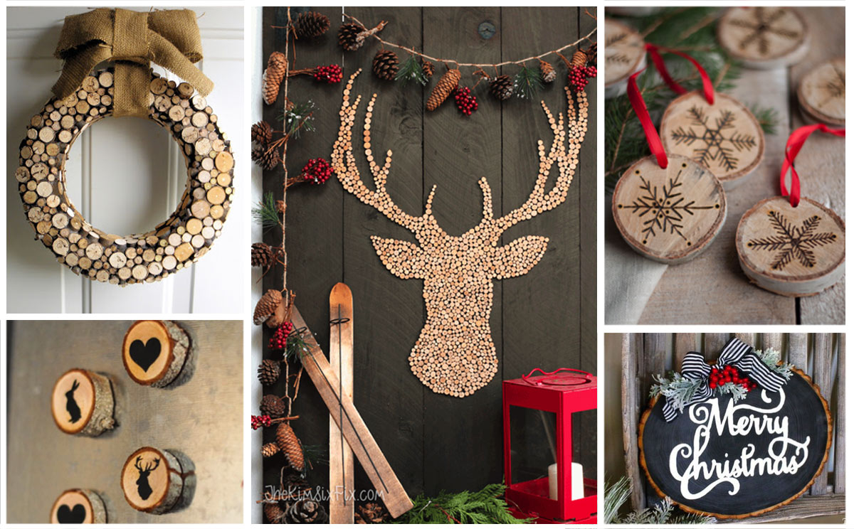 25 holiday project ideas made from wood slices