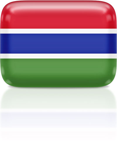 Gambian flag clipart rectangular