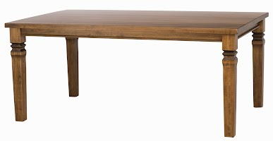 Corsica Dining Table in Lamar Maple, 70″ x 42″ x 30″
