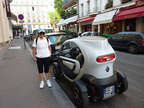 Photo: One seater electric car.