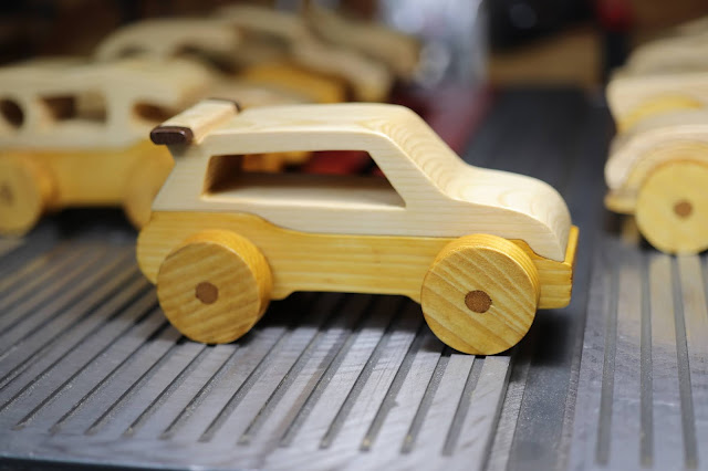 Wooden Toy Car Hot Rod Roadster Mini Van From The Speedy Wheels Series