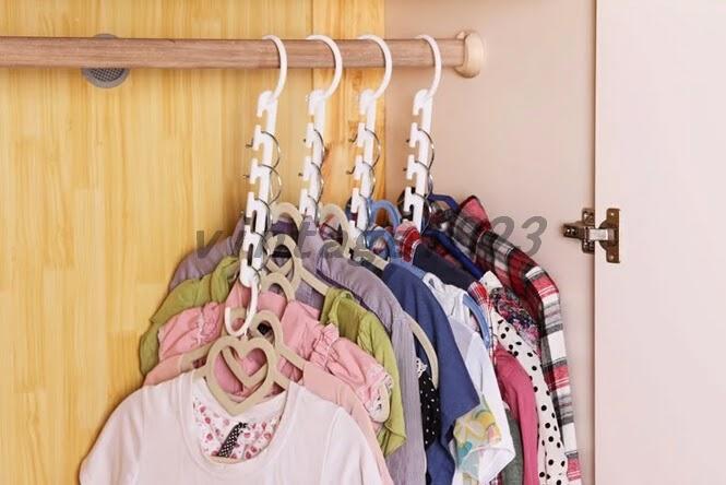Multi Racks Hooks Wardrobe Closet Organizer Clothes Suit