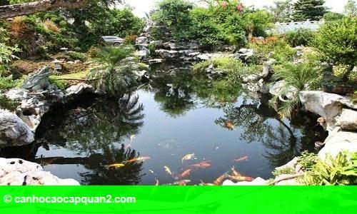 Hình 2: Tiểu cảnh đẹp mê ly trong sân vườn nhà sao Việt
