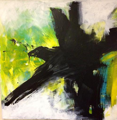 Quintal 40x40 - Acrylic on canvas. Artist Manny Martins-Karman