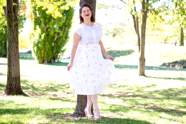 A 1940s spring look | Lavender & Twill