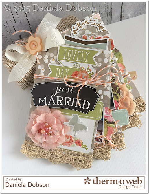 Just Married mini album by Daniela Dobson for Therm O Web