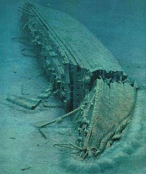 Original Real Titanic Underwater Photos