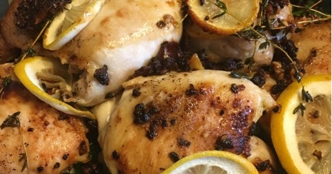 Grace for This Moment: Lemon Garlic Pan-Roasted Chicken ...