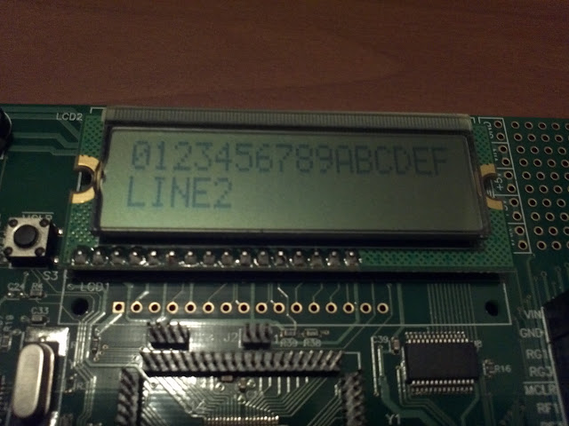 lcd display showing letters and numbers