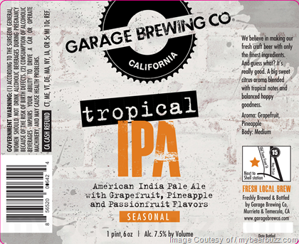 Garage Brewing Tropical IPA