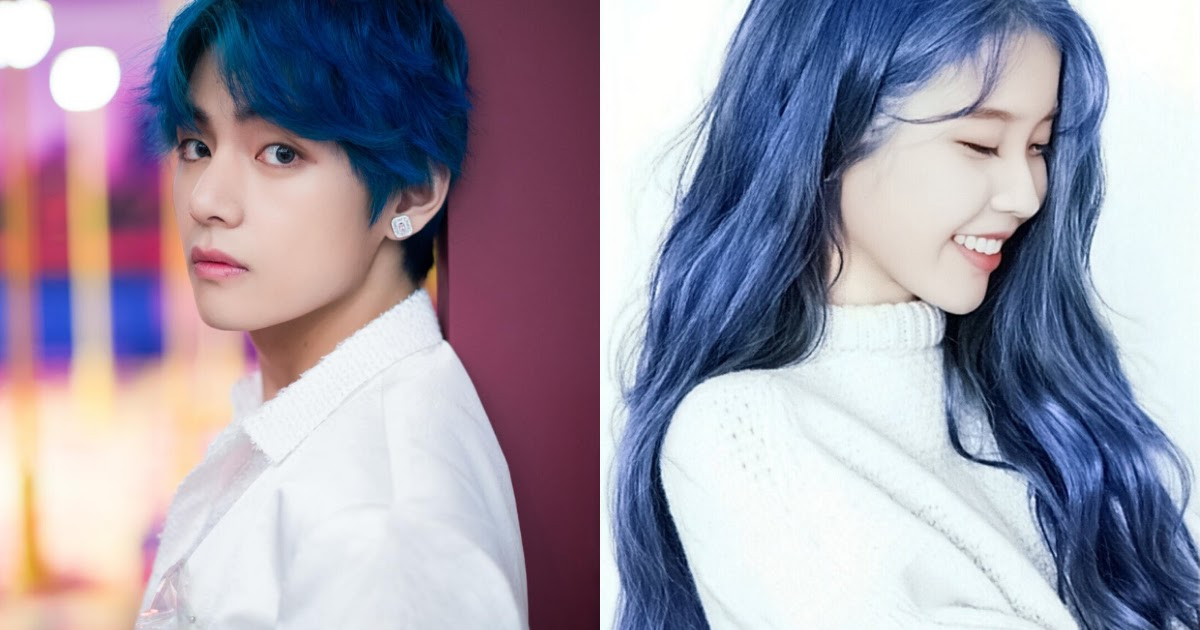 10+ Idols Who Absolutely Crushed The Blue Hair Look - Koreaboo