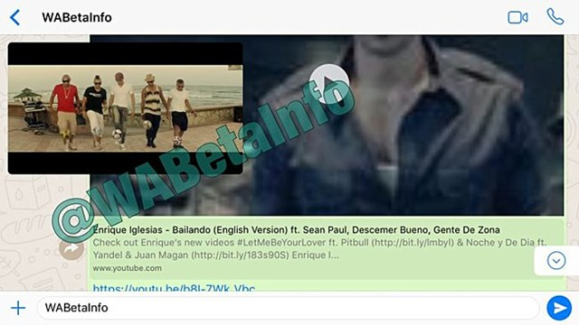 whatsapp fitur baru memutar video youtube langsung di jendela chat