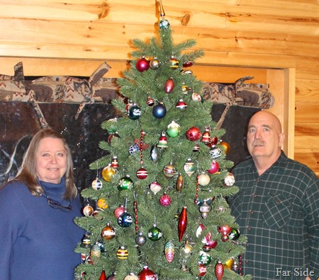 Gene and Connie at the shiny brite tree