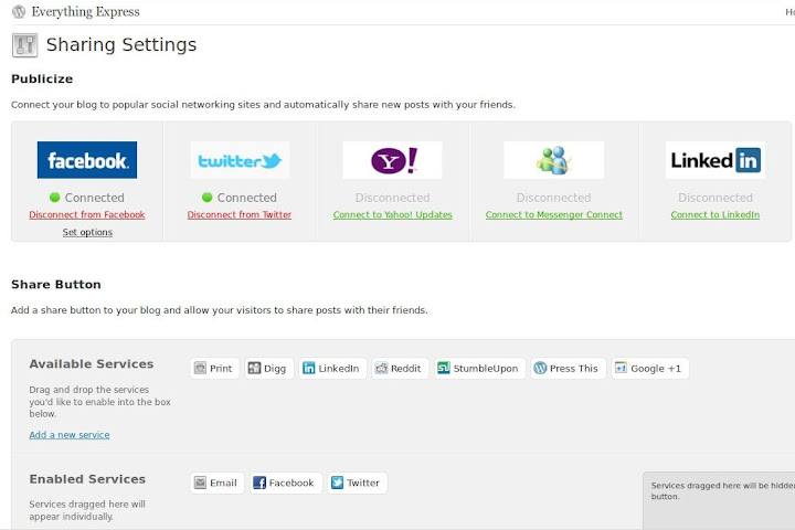Wordpress.com sharing now with Google Plus One