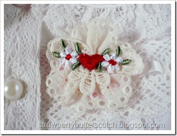 Lace Applique Brooch