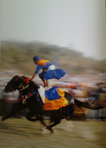 A Nihang Singh demonstrating his equestrian skills