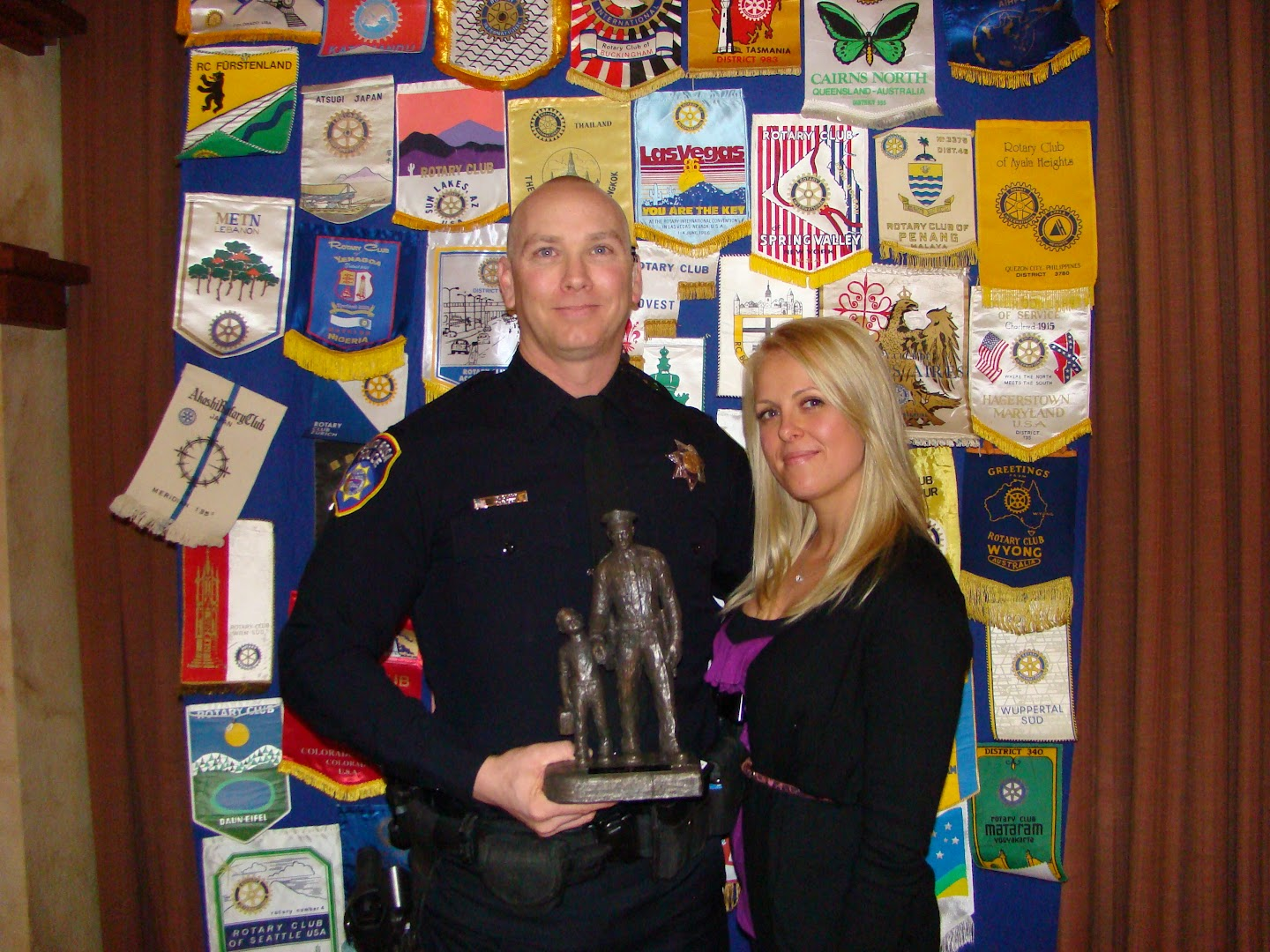 Law Enforcement Officer of the Year 2012 Michael C. Clark with his proud wife
