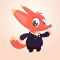 Cartoon Funny Fox Suit Illustration Free Download Vector CDR, AI, EPS and PNG Formats