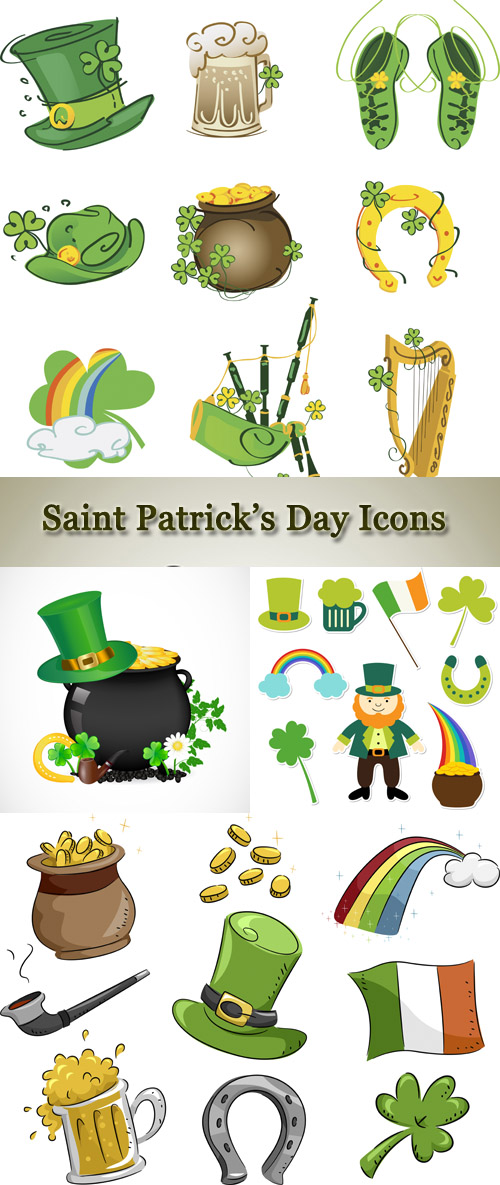 Stock: Saint Patricks Day Icons