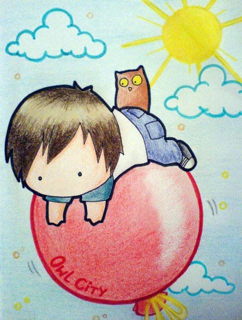 [Animation Pics] Owl City Chibi cực cute! HotAirBalloon