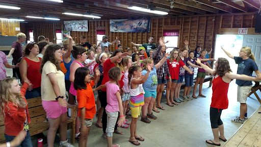 It's wonderful to see kids learning to sing praises to God! And as a daddy it's great to see my daughter Vivienne (in front in red) leading the kids with hand motions. Praise ye the Lord, hallelujah!