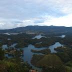 Vista de la represa desde el peñón de Guatapé
