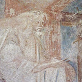 106. Fresco of The Presentation of the Child Jesus in the temple. Detail. Church of Santa Maria foris portas. Castelseprio. Province of Varese. 2013