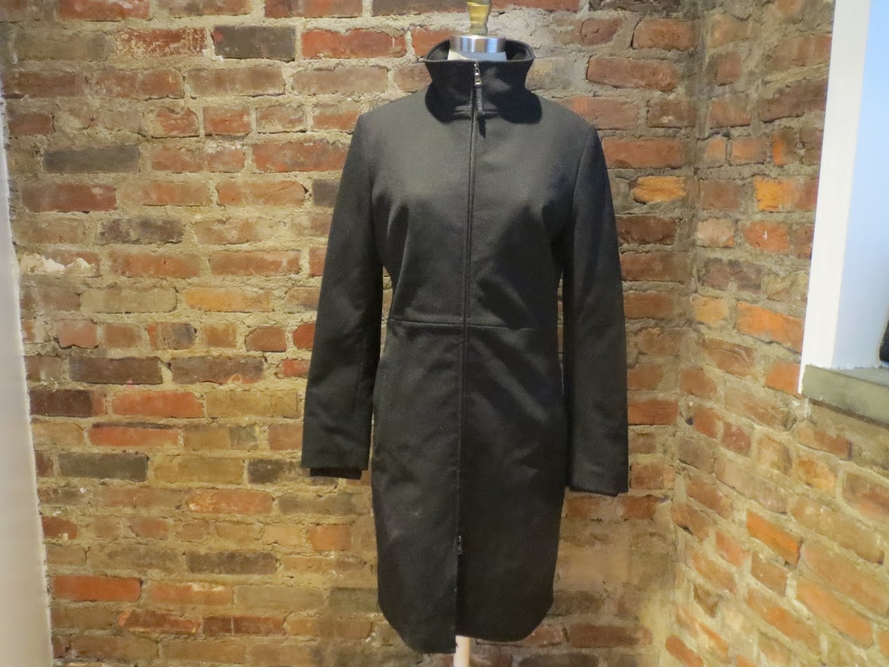 Prada Black Zip Trench