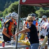 Diane Moresi and Jack McMillan helping out