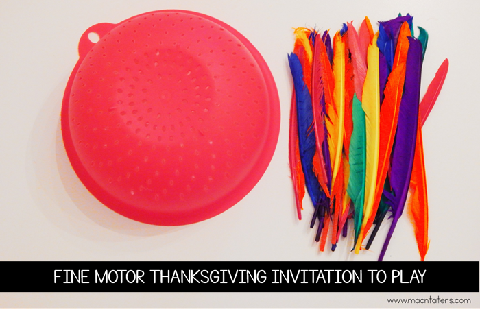 Fine Motor Thanksgiving Invitation To Play