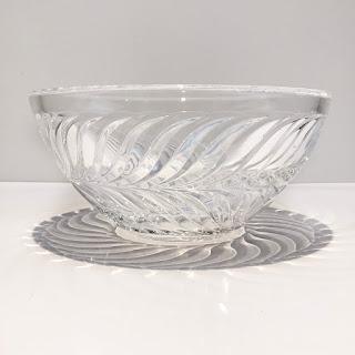 "Tiffany & Co. 10.75"" Crystal Salad Bowl"