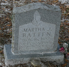 Photo: Martha Johns Batten is the daughter of James Leigh Johns and Elizabeth Reynolds / Wife of James Henry Batten.